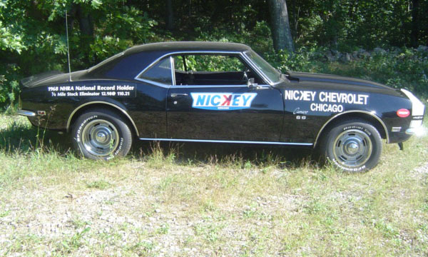 1968 CHEVROLET CAMARO NICKEY RACE CAR RE-CREATION - Side Profile - 15499