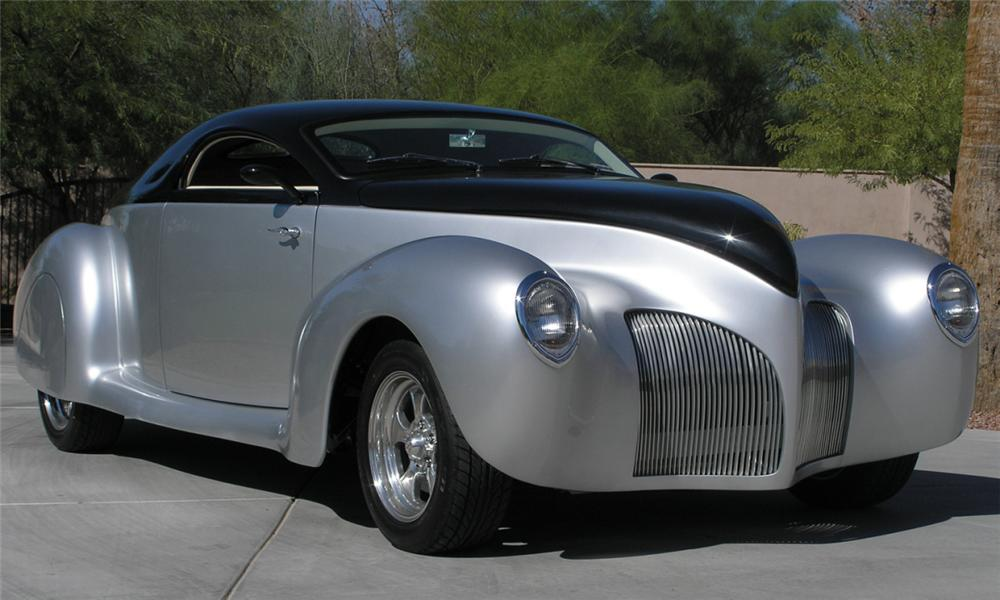 1939 LINCOLN ZEPHYR CUSTOM 2 DOOR COUPE - Front 3/4 - 15509