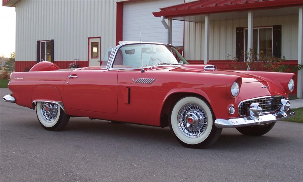 1956 FORD THUNDERBIRD CONVERTIBLE - Front 3/4 - 15516