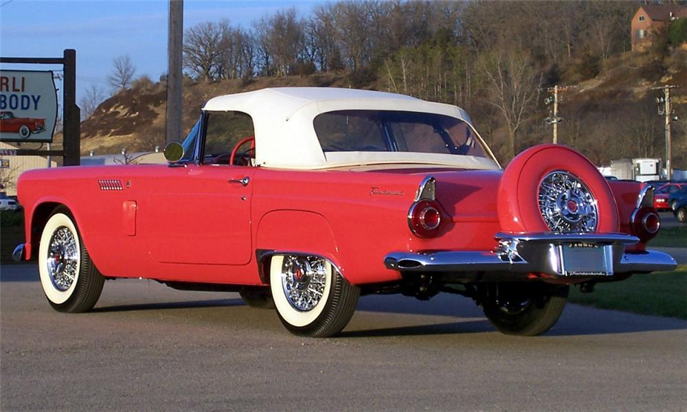 1956 FORD THUNDERBIRD CONVERTIBLE - Rear 3/4 - 15516