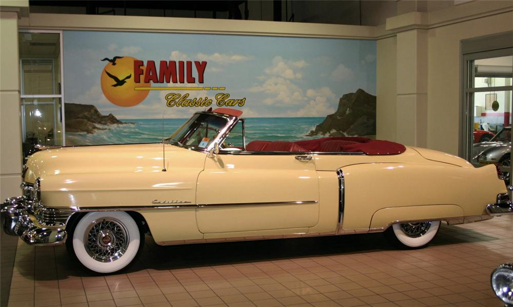 1950 CADILLAC SERIES 62 CONVERTIBLE - Side Profile - 15524