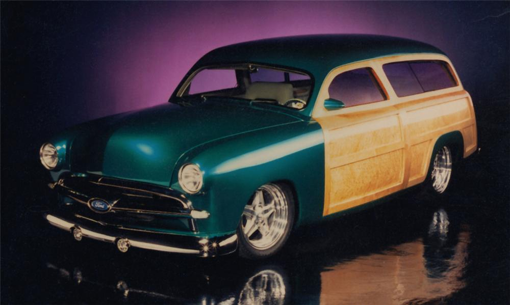 1950 FORD CUSTOM WOODY STATION WAGON - Front 3/4 - 15533