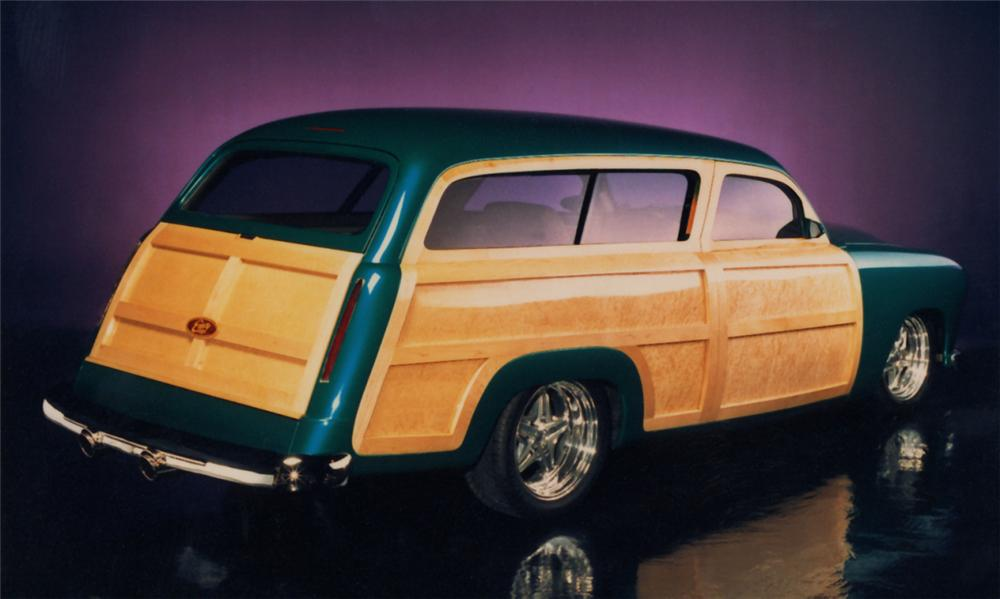 1950 FORD CUSTOM WOODY STATION WAGON - Rear 3/4 - 15533
