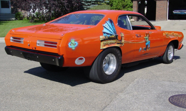 1972 PLYMOUTH DUSTER DRAG CAR - Rear 3/4 - 15540