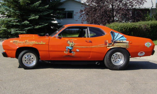 1972 PLYMOUTH DUSTER DRAG CAR - Side Profile - 15540