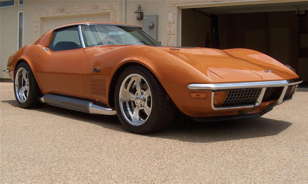 1972 CHEVROLET CORVETTE CUSTOM COUPE T-TOP - Front 3/4 - 15550