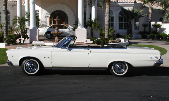 1965 PLYMOUTH BELVEDERE CONVERTIBLE - Side Profile - 15585
