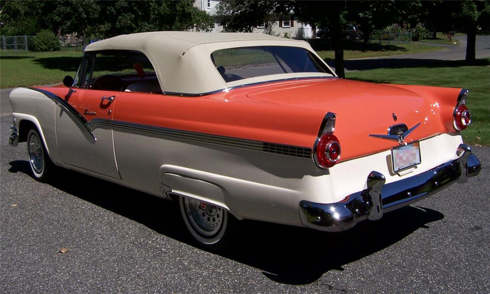 1956 ford sunliner convertible custom door rear cars
