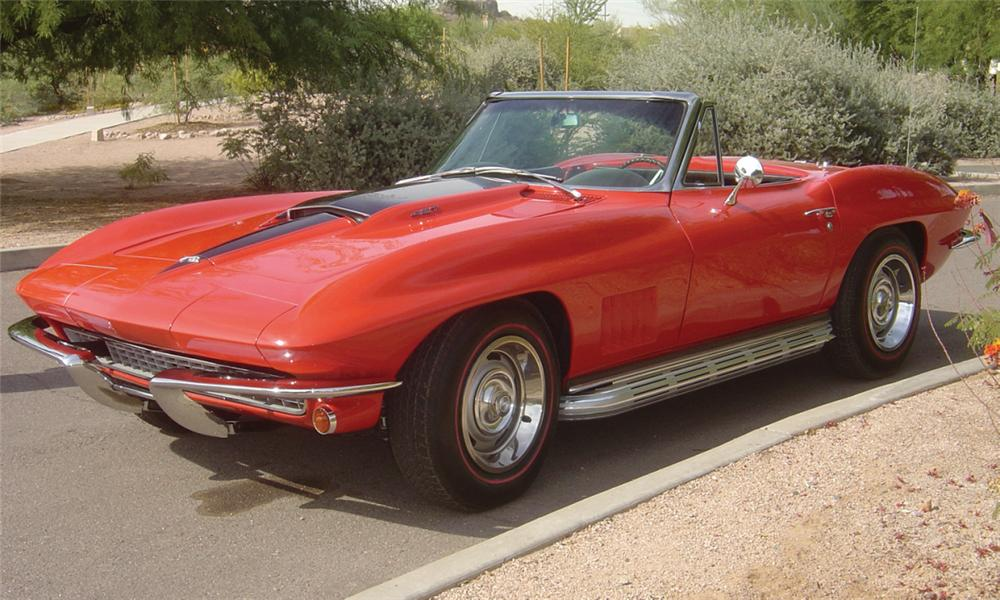 1967 CHEVROLET CORVETTE 427/435 CONVERTIBLE - Front 3/4 - 15598