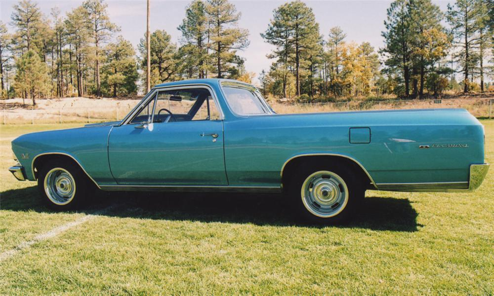 1966 CHEVROLET EL CAMINO SPORT PICKUP - Side Profile - 15601