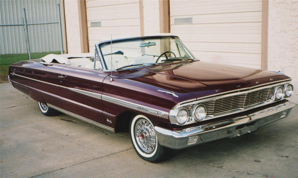 1964 FORD GALAXIE XL CONVERTIBLE - Front 3/4 - 15627