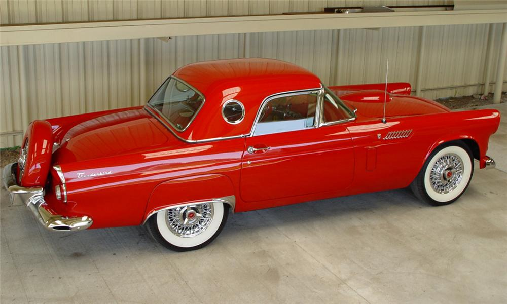 1956 FORD THUNDERBIRD CONVERTIBLE - Side Profile - 15637