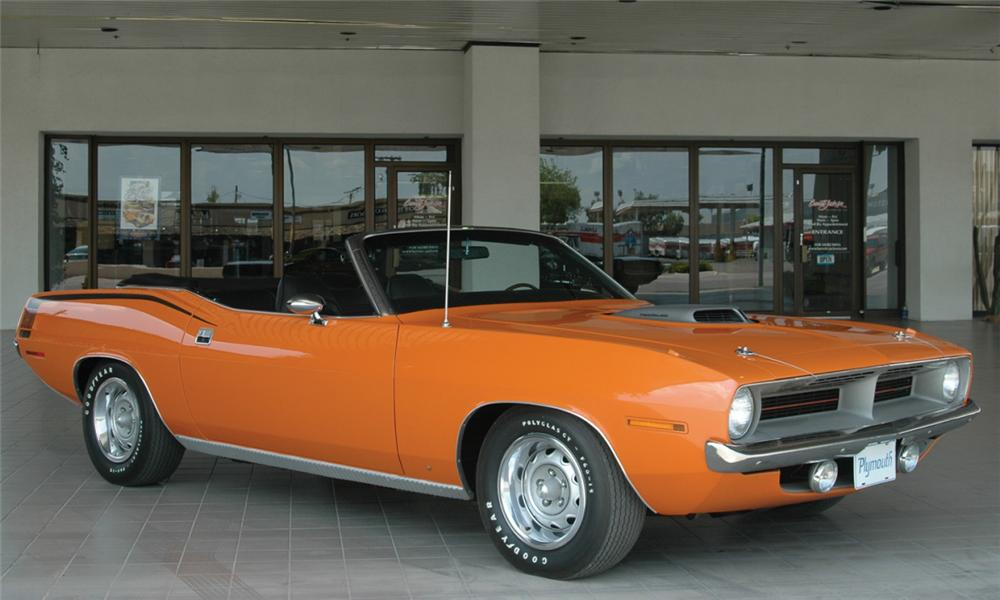 1970 PLYMOUTH HEMI CUDA 2 DOOR CONVERTIBLE - Front 3/4 - 15652