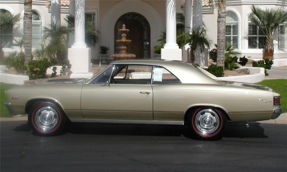 1967 CHEVROLET CHEVELLE SS 2 DOOR HARDTOP - Side Profile - 15656