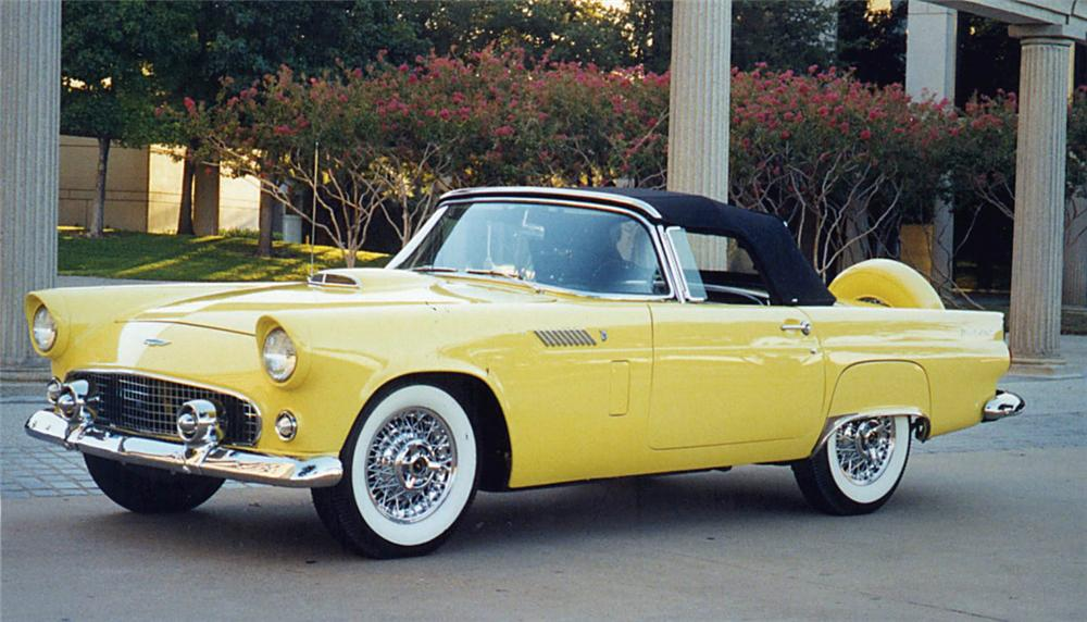 1956 FORD THUNDERBIRD CONVERTIBLE - Front 3/4 - 15657