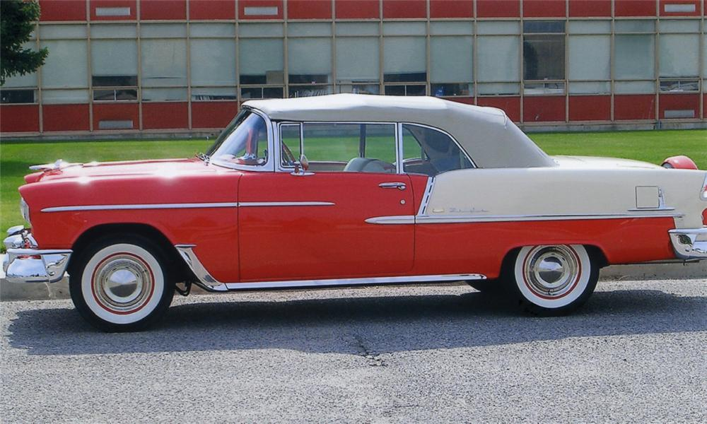 1955 CHEVROLET BEL AIR CONVERTIBLE - Side Profile - 15658
