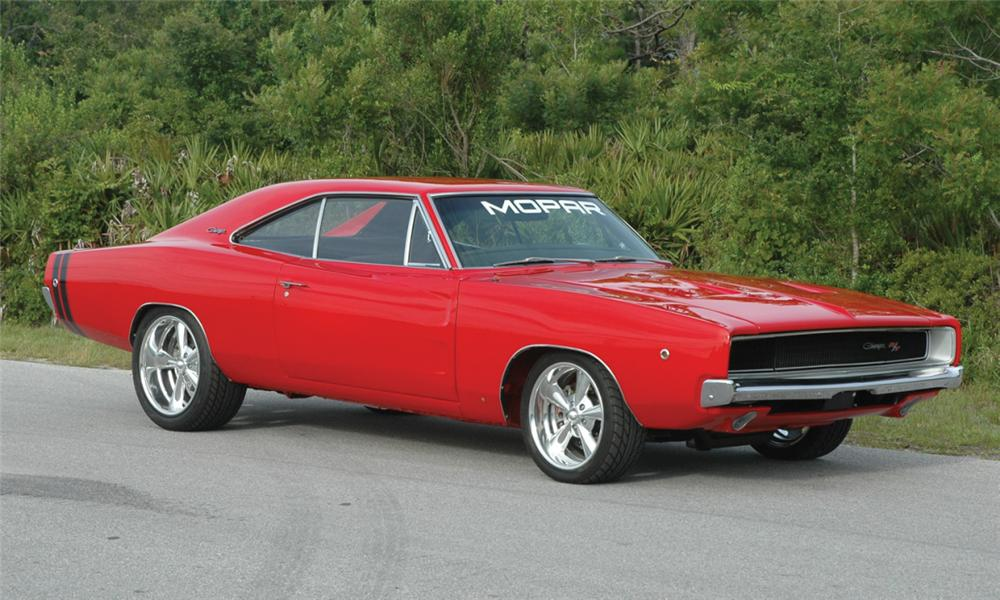 1968 DODGE CHARGER R/T CUSTOM 2 DOOR HARDTOP - Front 3/4 - 15686