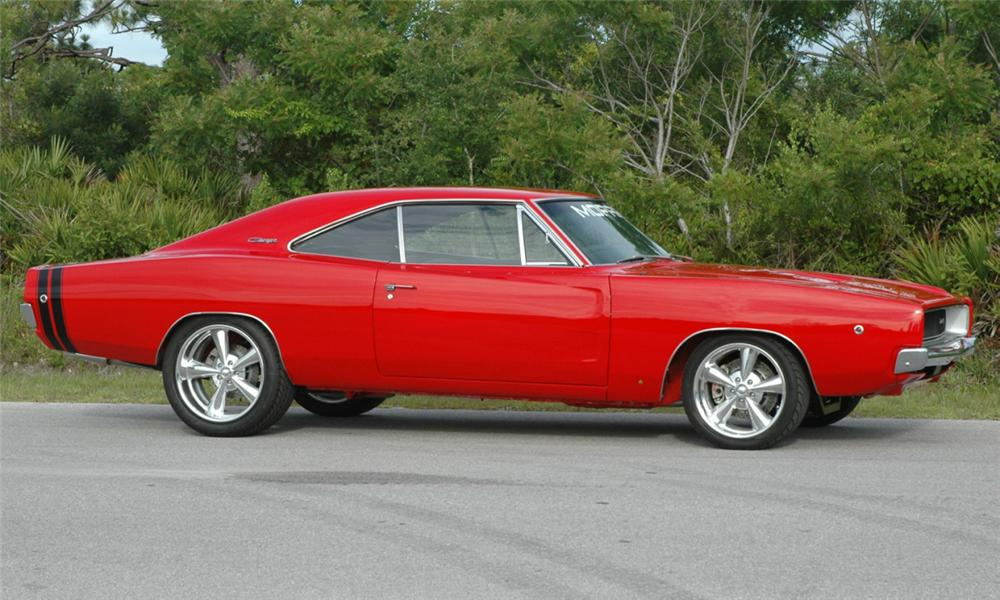 1968 DODGE CHARGER R/T CUSTOM 2 DOOR HARDTOP - Side Profile - 15686