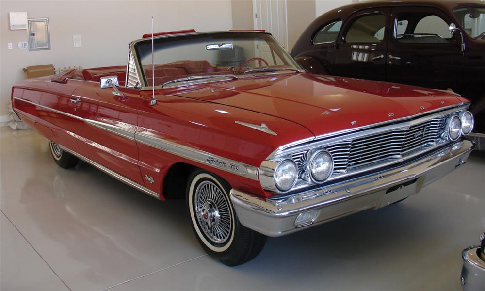 1964 FORD GALAXIE 500 CONVERTIBLE - Front 3/4 - 15687