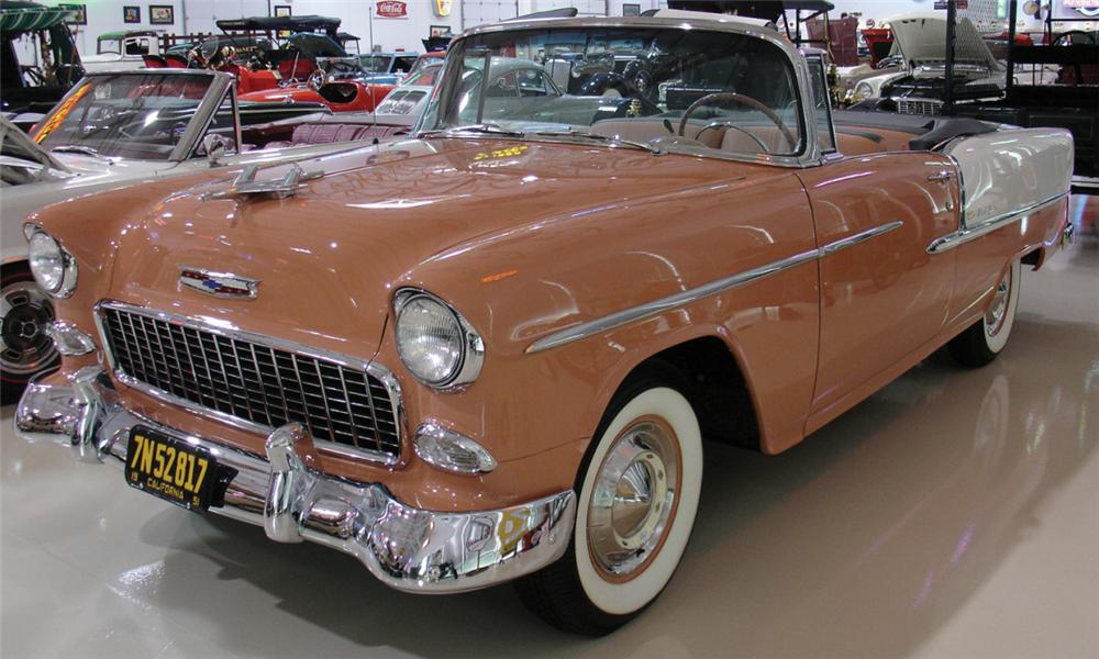 1955 CHEVROLET BEL AIR CONVERTIBLE - Front 3/4 - 15690