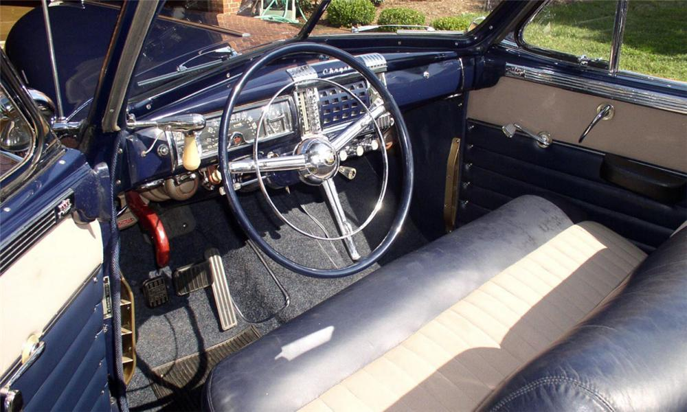 1947 CHRYSLER TOWN & COUNTRY CONVERTIBLE - Interior - 15704