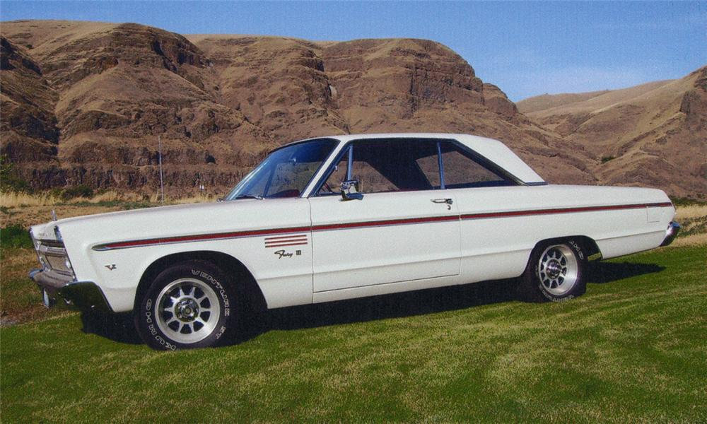 1965 PLYMOUTH FURY III 2 DOOR HARDTOP - Side Profile - 15720
