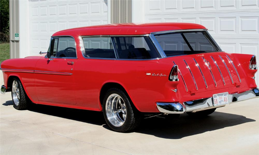 1955 CHEVROLET NOMAD CUSTOM WAGON - Rear 3/4 - 15726
