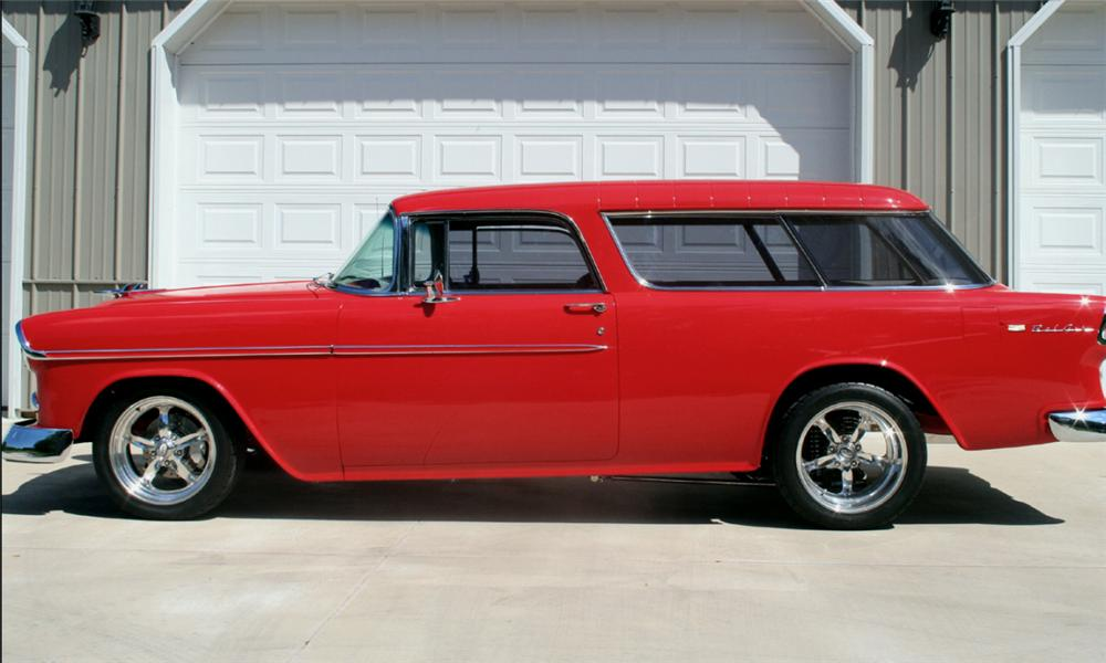 1955 CHEVROLET NOMAD CUSTOM WAGON - Side Profile - 15726