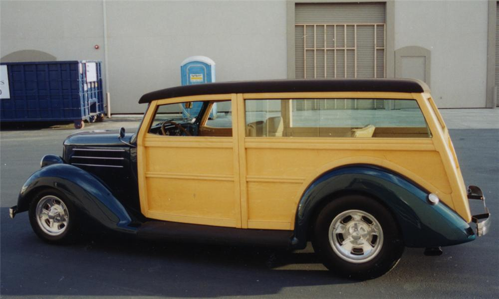 1936 FORD WOODY STREET ROD WAGON - Side Profile - 15730