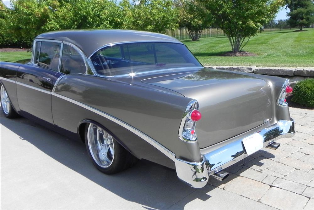 1956 CHEVROLET 210 CUSTOM 2 DOOR COUPE - Rear 3/4 - 157310