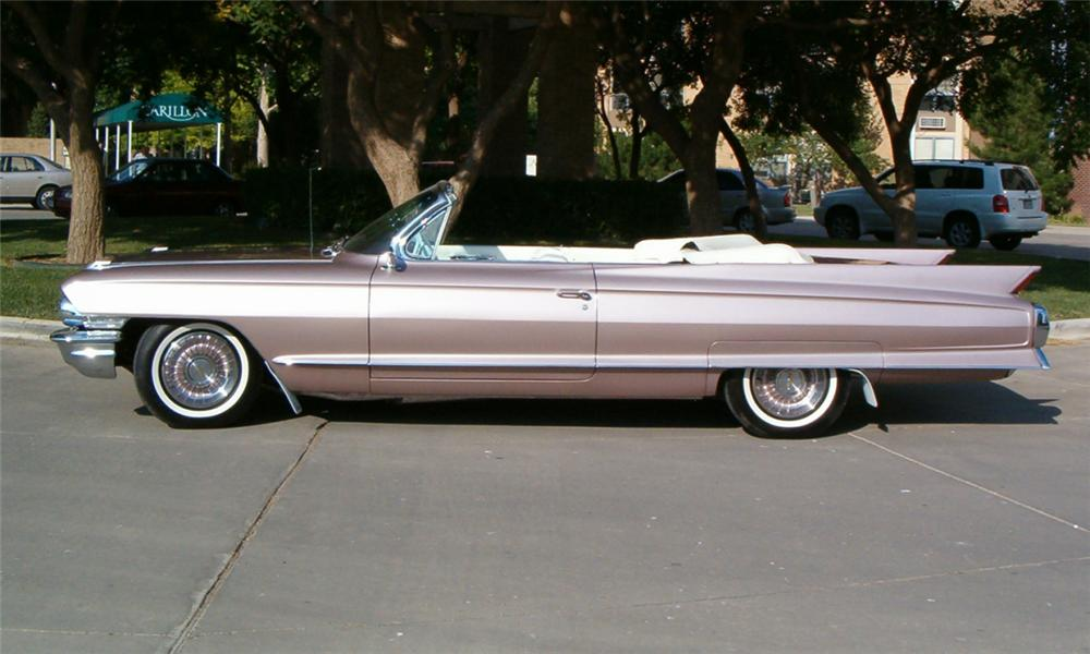 1962 CADILLAC SERIES 62 CONVERTIBLE - Side Profile - 15732