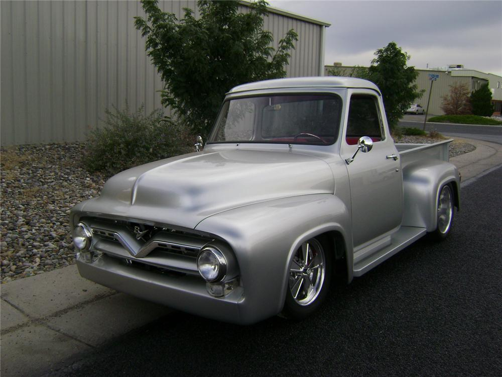 1955 FORD F-100 CUSTOM PICKUP - Front 3/4 - 157325