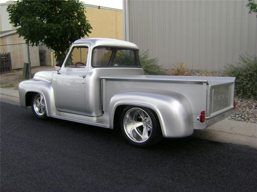 1955 FORD F-100 CUSTOM PICKUP - Rear 3/4 - 157325