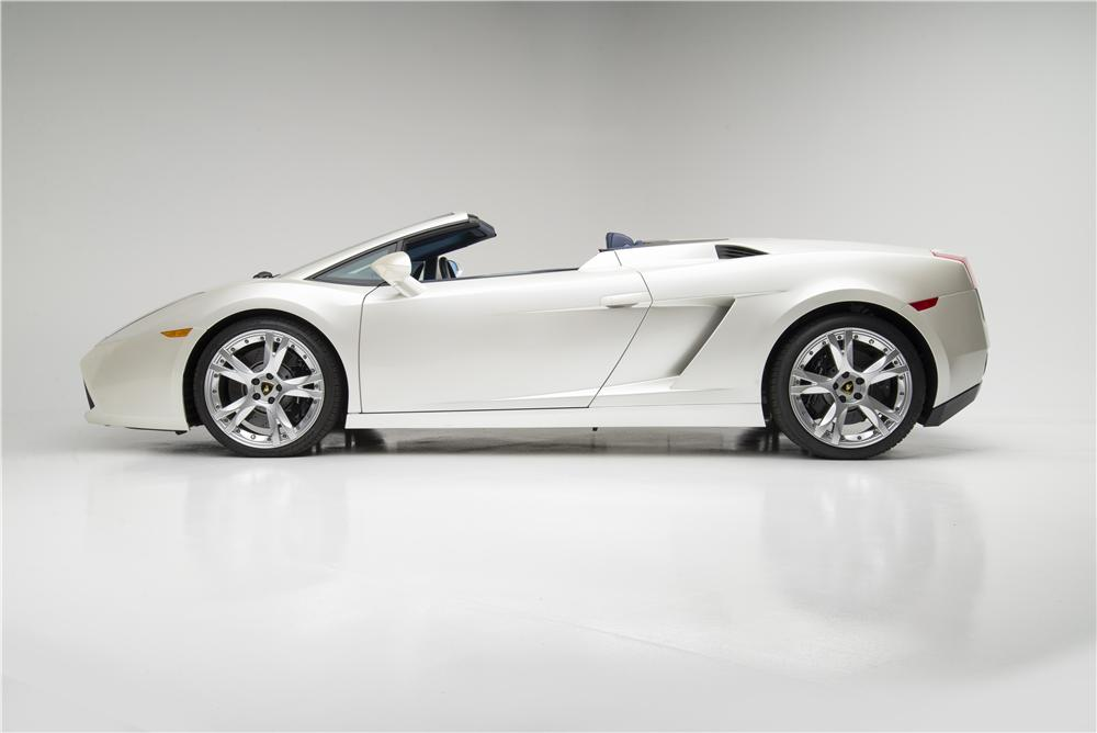 2007 LAMBORGHINI GALLARDO SPYDER - Side Profile - 157330