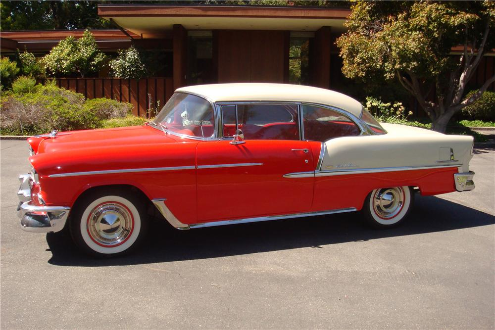 1955 CHEVROLET BEL AIR 2 DOOR HARDTOP - Side Profile - 157332