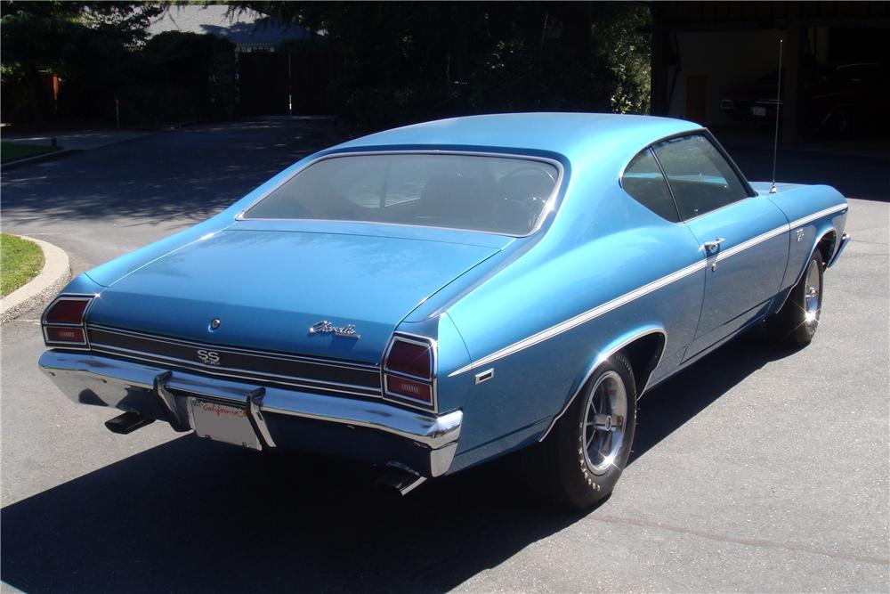 1969 CHEVROLET CHEVELLE SS 396 2 DOOR COUPE - Rear 3/4 - 157334
