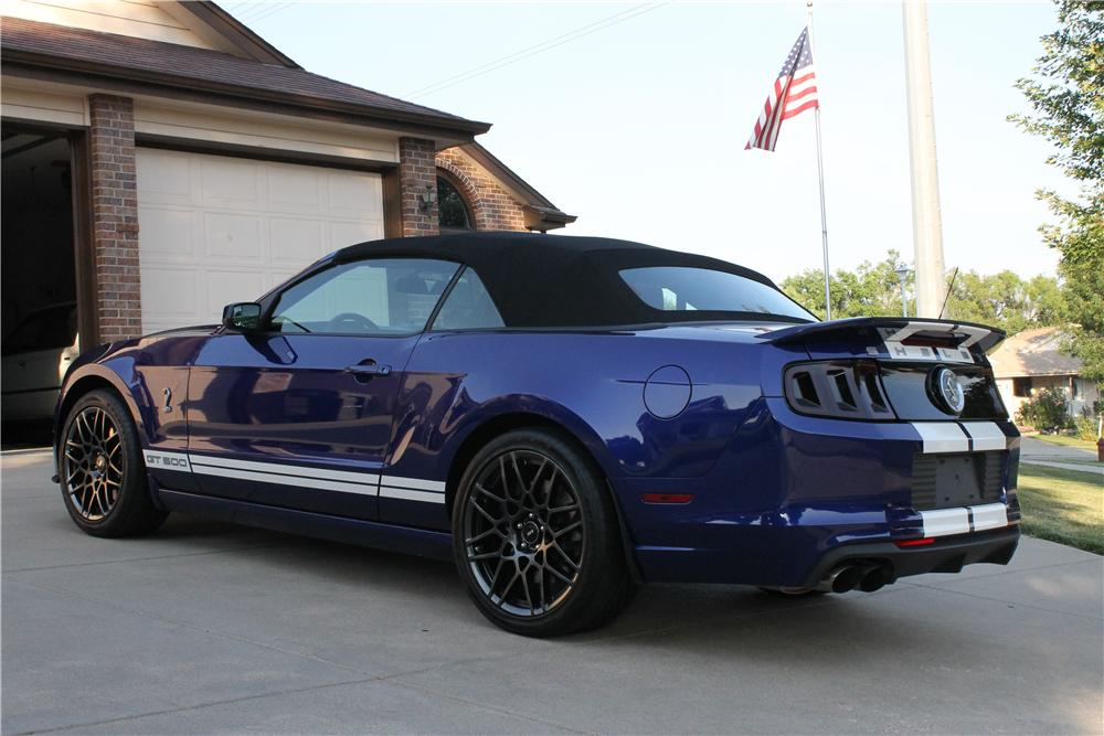 2013 SHELBY GT500 CONVERTIBLE - Rear 3/4 - 157338