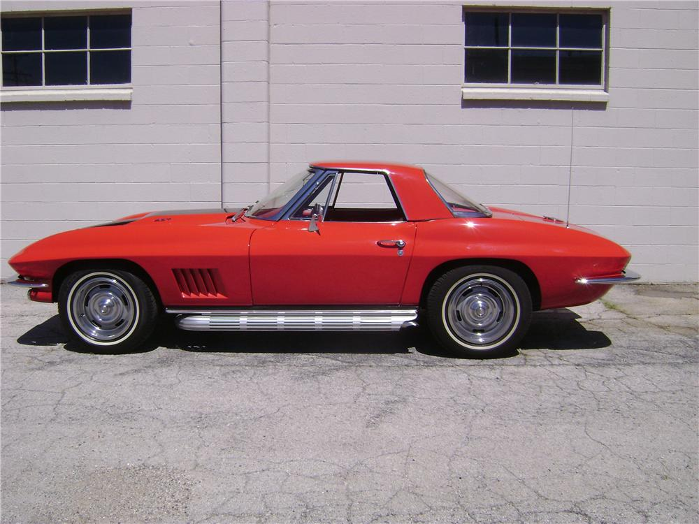 1967 CHEVROLET CORVETTE CONVERTIBLE - Side Profile - 157341