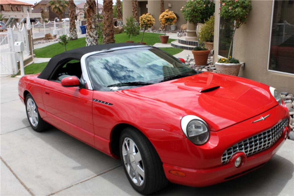 2002 FORD THUNDERBIRD CONVERTIBLE - Front 3/4 - 157352