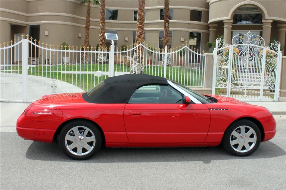 2002 FORD THUNDERBIRD CONVERTIBLE - Side Profile - 157352