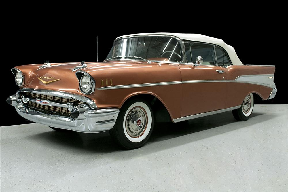 1957 CHEVROLET BEL AIR CONVERTIBLE - Front 3/4 - 157356