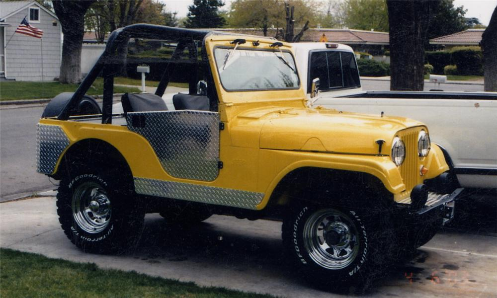 1955 WILLYS JEEP   - Side Profile - 15736