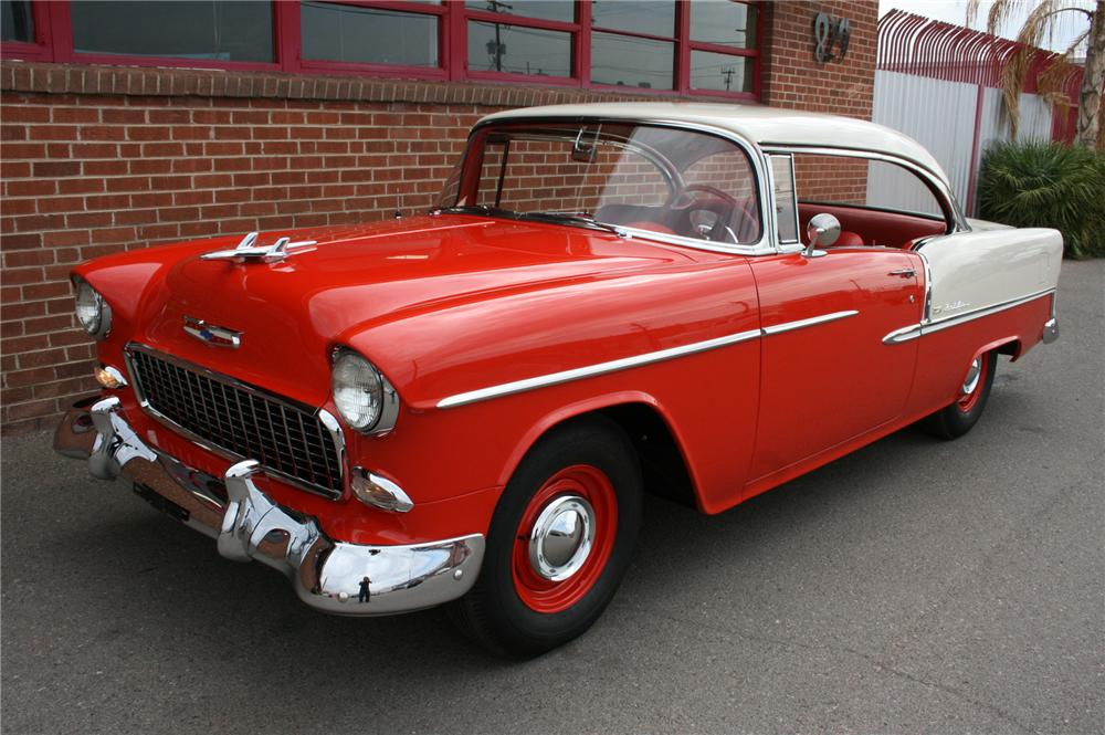 1955 CHEVROLET BEL AIR 2 DOOR HARDTOP - Front 3/4 - 157361