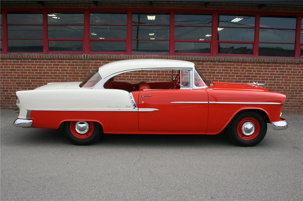 1955 CHEVROLET BEL AIR 2 DOOR HARDTOP - Side Profile - 157361