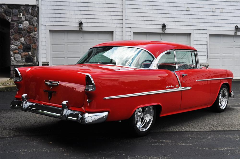 1955 CHEVROLET BEL AIR COUPE - Rear 3/4 - 157364