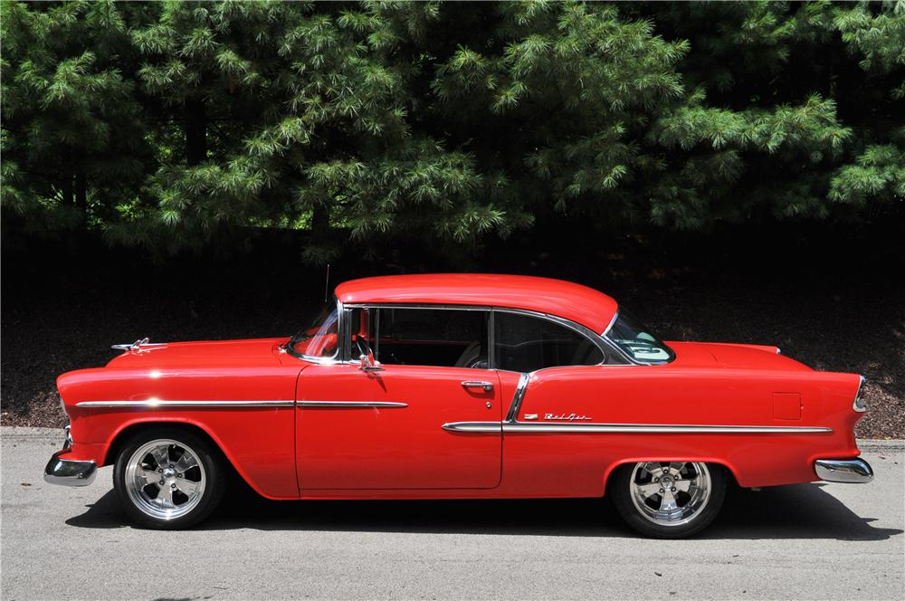 1955 CHEVROLET BEL AIR COUPE - Side Profile - 157364