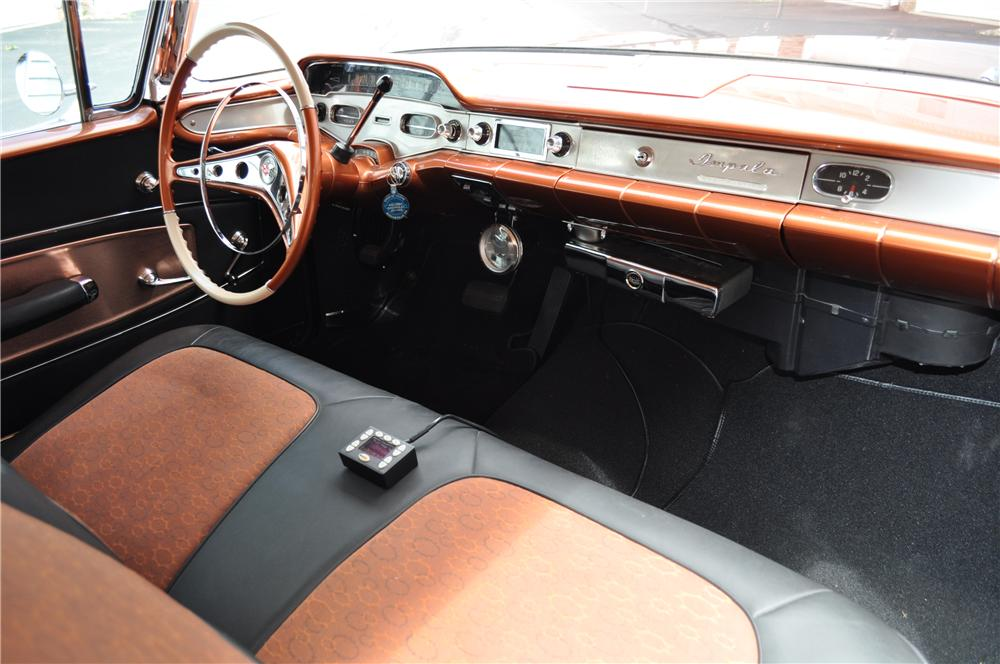 1958 CHEVROLET IMPALA CUSTOM 2 DOOR COUPE - Interior - 157365