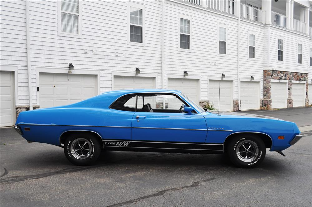 1970 FORD TORINO 2 DOOR COUPE - Side Profile - 157367