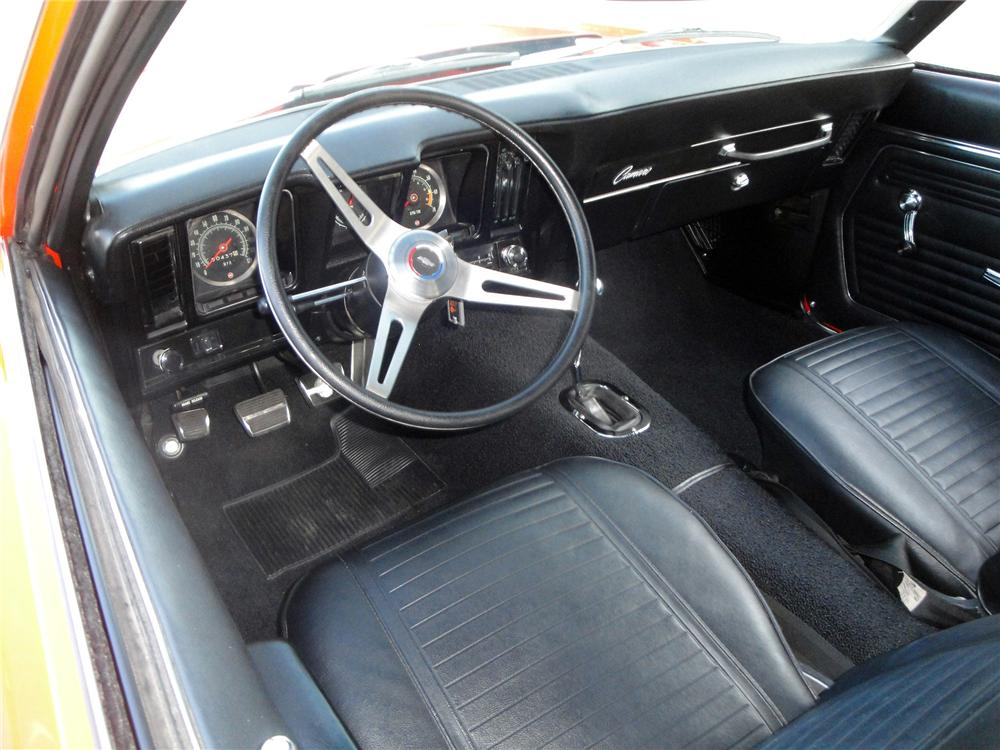 1969 CHEVROLET CAMARO 2 DOOR COUPE - Interior - 157379