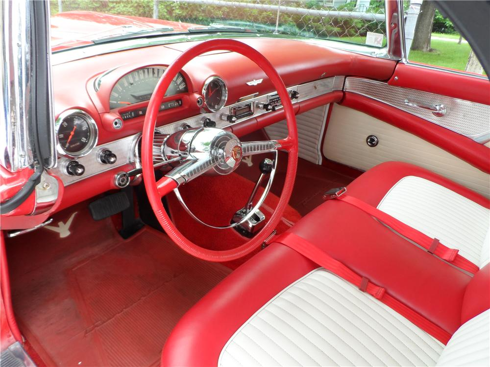 1955 FORD THUNDERBIRD CONVERTIBLE - Interior - 157386